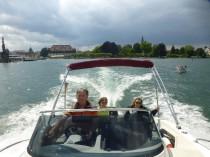 Motorboot Konstanzer Bucht, Bodensee Skipper Bischoff