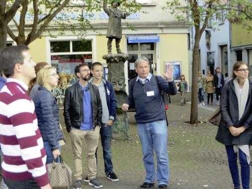 Stadtführung Feuergasse Konstanz, Reiseleiter Bodensee, Helmut Bischoff Stadtführer Konstanz