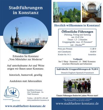 Gästeführung Stadtführung Konstanz, Reiseleiter Bodensee, öffentliche Stadtführung Konstanz