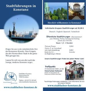 Stadtführung Konzil Konstanz, Reiseleiter Bodensee, Gästeführer Konstanz
